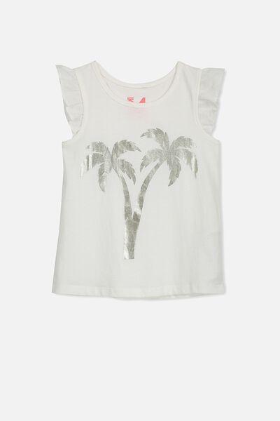 Edie Tank, VANILLA/PALM TREE
