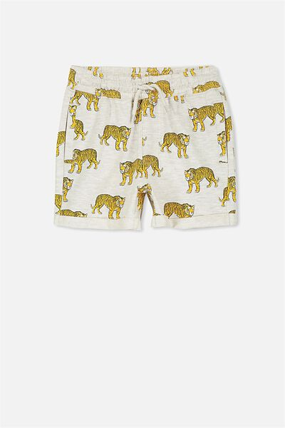 Henry Slouch Short, OATMEAL MARLE/TIGER