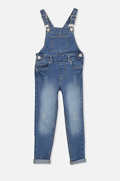 Heather Overall, MID BLUE WASH