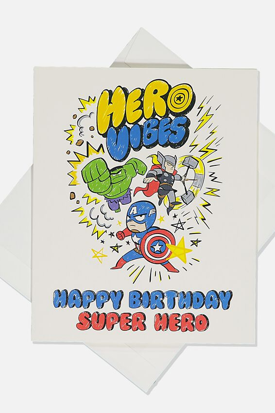 Licensed Birthday Gift Card, LCN MAR SUPERHERO BIRTHDAY