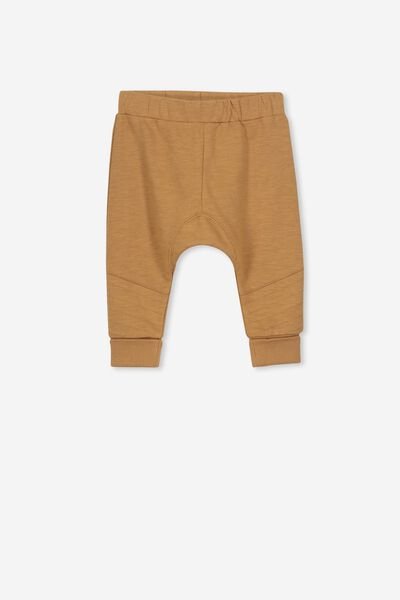 Shelby Slouch Trackpant, BURNT BISCUIT MOTO