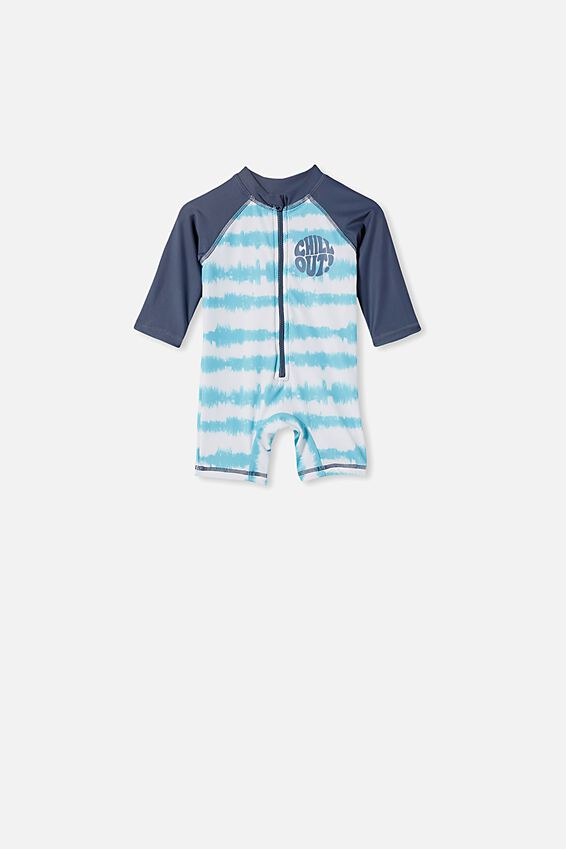 Cameron Long Sleeve Swimsuit, BLUE ICE TIE DYE/CHILL OUT