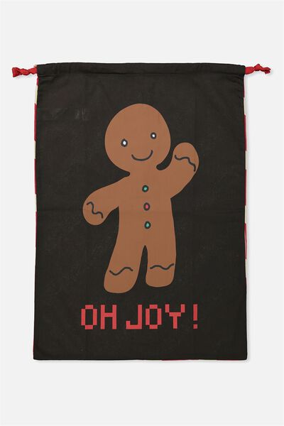 Kids Santa Sack, GINGERBREAD MAN