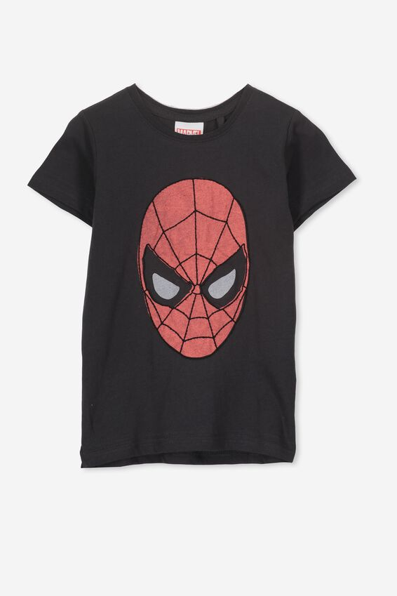 Short Sleeve License1 Tee, LCN MAR PHANTOM/EMBROIDERED SPIDERMAN
