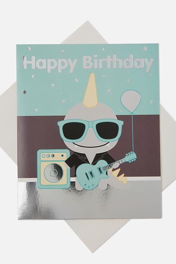 Sunny Buddy Birthday Card, JACK ROCKIN