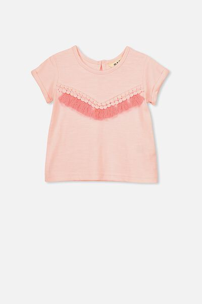 Brandy Fashion Ss Top, SHELL PEACH