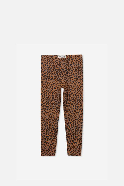 Huggie Tights, AMBER BROWN/LEOPARD