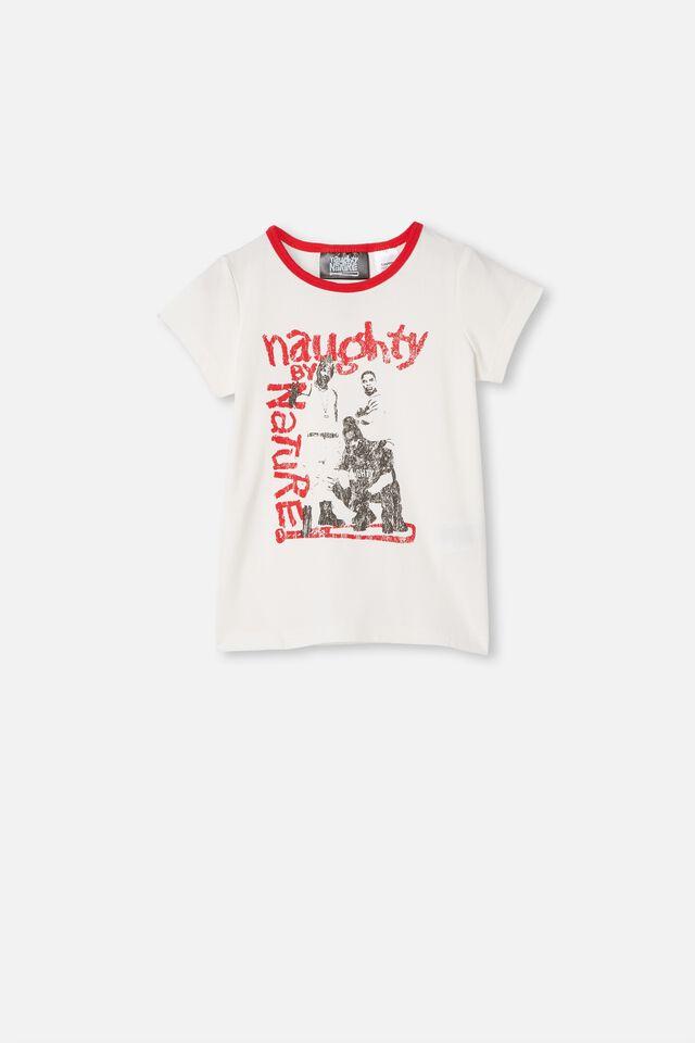 Hudson Short Sleeve Pyjama Set, LCN MT NAUGHTY BY NATURE VANILLA