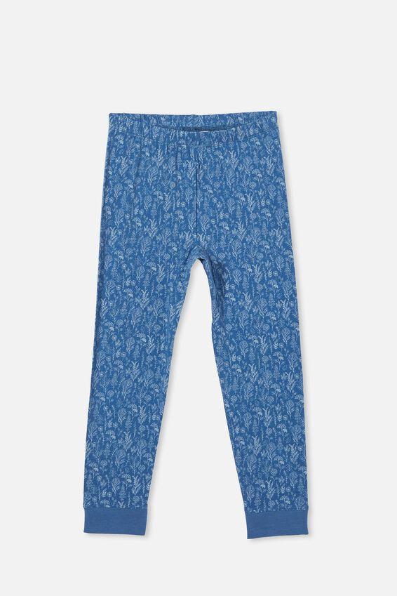 Florence Long Sleeve Pyjama Set Licensed, LCN DIS FROZEN FLORAL/DUSTY BLUE