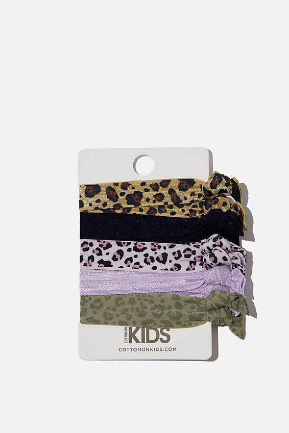Knot Messy Hairties, SNOW LEOPARD