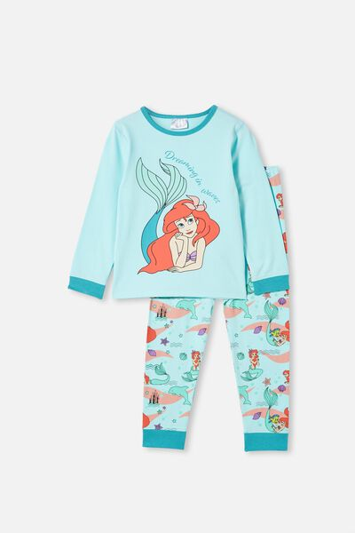 Florence Long Sleeve Pyjama Set, LCN DIS ARIEL DREAM BLUE