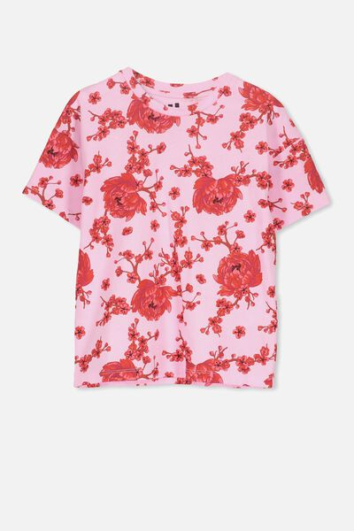 Penelope Ss Loose Fit Tee, LILAC SACHET/BLOSSOM FLORAL