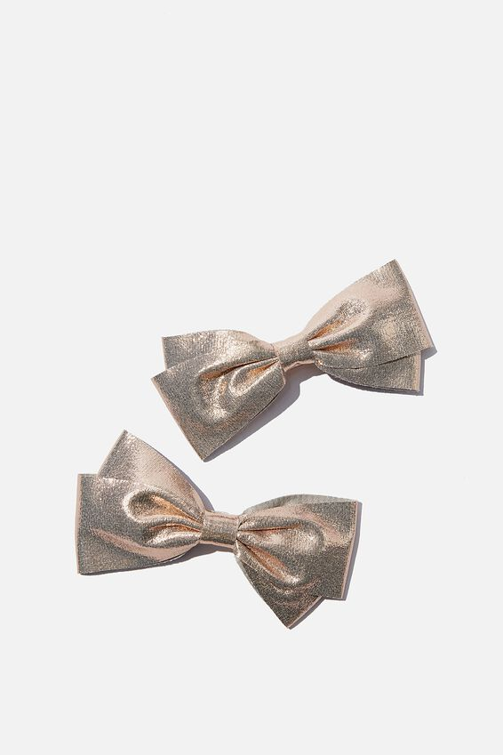 Big Bow Clips, GOLD SHIMMER