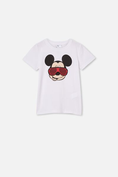 Short Sleeve License1 Tee, LCN DIS MICKEY INTERACTIVE GLASSES/WHITE