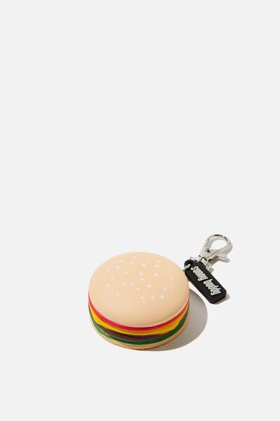 Squishy Bag Charm, HAMBURGER