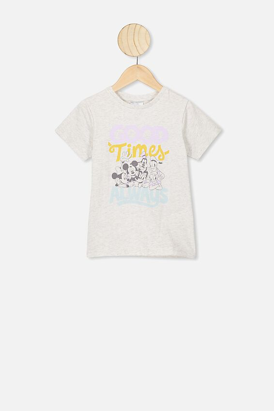 Lux Short Sleeve Tee, LCN DIS SUMMER GREY MARLE/MICKEY GOOD TIMES