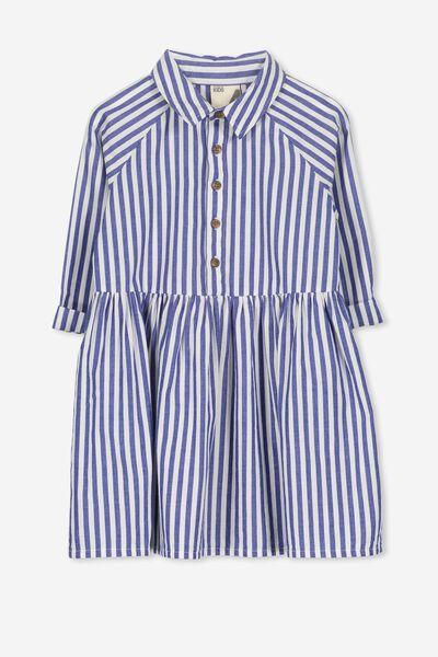 Sloan Shirt Dress, BLUE STRIPE