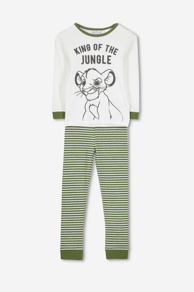 Harry Long Sleeve Boys PJ Set, LCN DIS LION KING