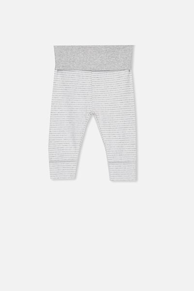 Newborn Essentials Legging, CLOUD MARLE STRIPE