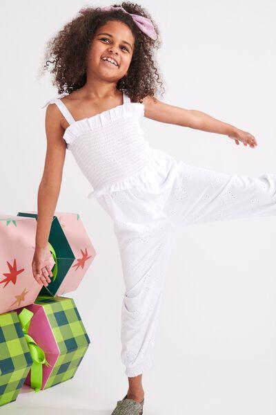 Imogen Shirred Jumpsuit, WHITE