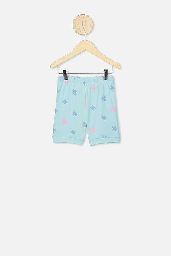 Nikki Short Sleeve Pajama Set, LCN HAS DREAM BLUE/MLP RAINBOW STAR