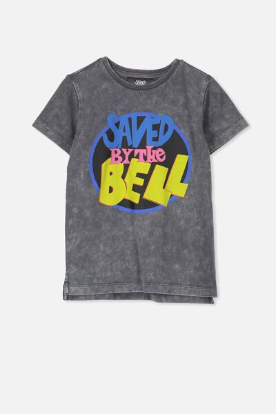 Short Sleeve License1 Tee, GRAPHITE WASH/SAVED BY THE BELL