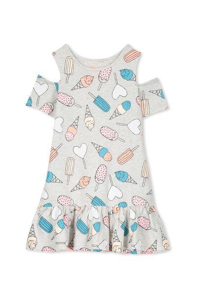 Miranda Dress, SUMMER GREY MARLE/ICECREAMS