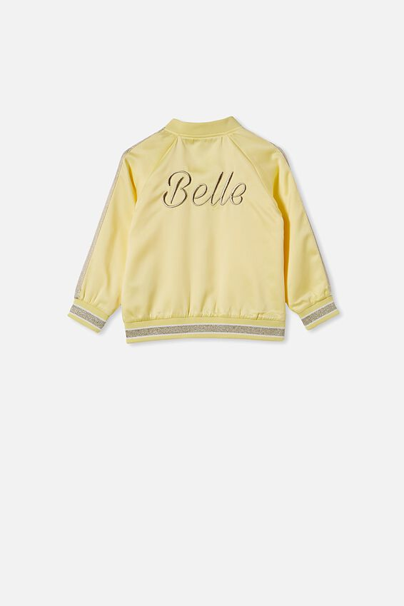 Belle Bomber Jacket, LCN DIS LEMON MERINGUE/BELLE