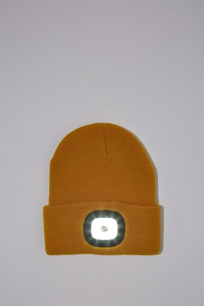 Light Up Beanie, GOLDEST