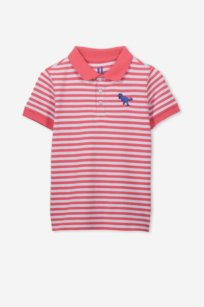 Kenny 3  Polo, BONFIRE RED YDS/DINO EMBROIDERY
