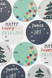 Christmas Wrap Stickers, PEACE AND JOY