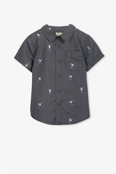 Jackson Short Sleeve Shirt, GRAPHITE OLLIE