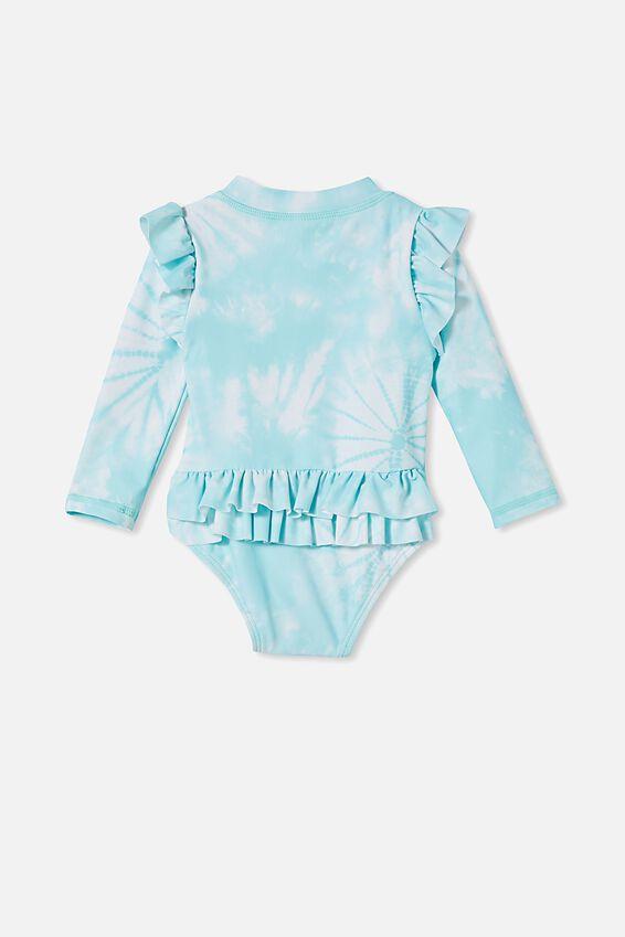 Lucy Long Sleeve Swimsuit, DREAM BLUE TIE DYE