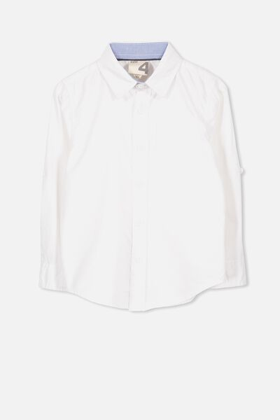 Noah Long Sleeve Shirt, WHITE