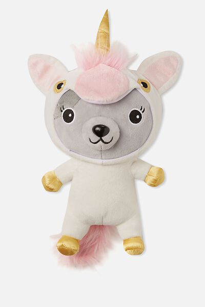 Sunny Buddy Medium Dress Up Soft Toy, AVA UNICORN