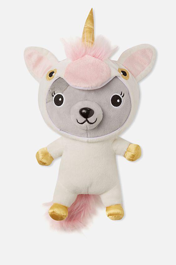 Sunny Buddy Medium Dress Up Soft Toy, AVA UNICORN
