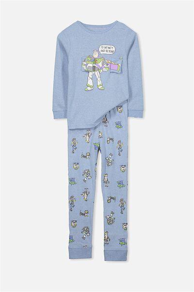 Harry Long Sleeve V3 Boys Pyjama Set, BUZZ LIGHTYEAR/WINGS