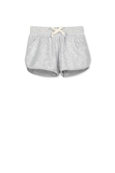 Nina Knit Short, LIGHT GREY MARLE/FOIL