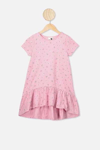 Joss Short Sleeve Dress, MARSHMALLOW/FLORAL FIELDS MINI