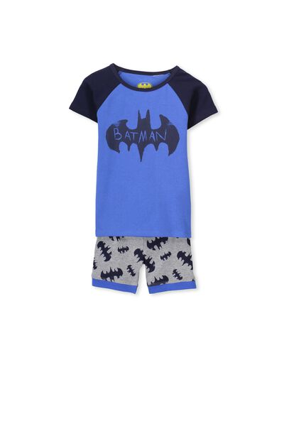 Angus Short Sleeve Pj Set, BATMAN SKETCHY LOGO
