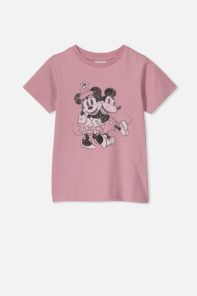Lux Short Sleeve Tee, LCN DIS DUSTY BERRY/MICKEY IN LOVE/MAX