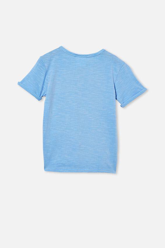 Madden Short Sleeve Henley Reg Fit Tee, DUSK BLUE