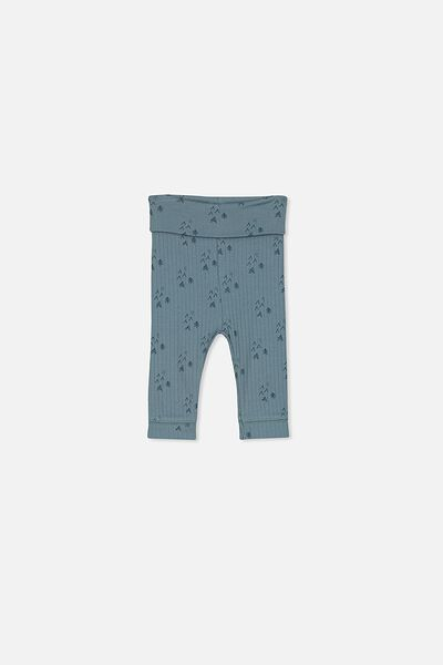 Newborn Legging, DEEP POOL BLUE/FOREST