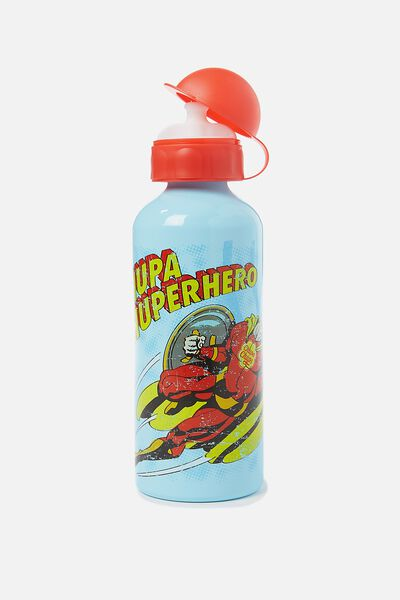 Aluminium Drink Bottle, BLUE CHUPA CHUP HERO
