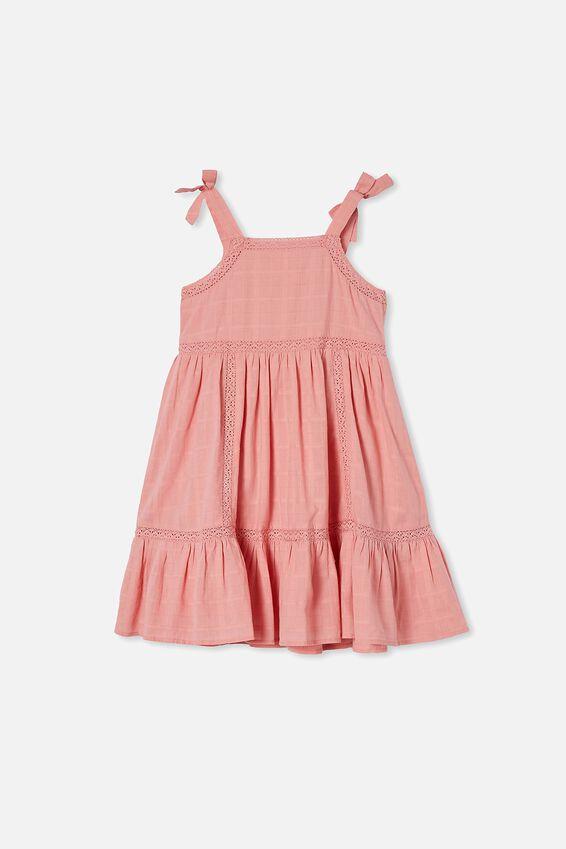 Amelia Sleeveless Dress, EARTH CLAY
