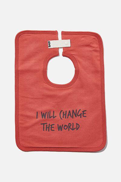 The Everyday Bib, RED BRICK/CHANGE THE WORLD