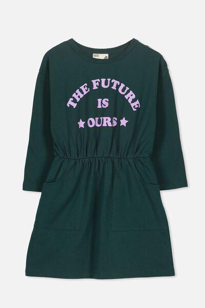 Mara Long Sleeve Dress, BOTANICAL GREEN/FUTURE