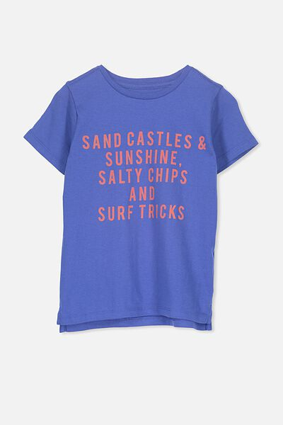 Max Short Sleeve Tee, BLUE SAND CASTLES ETC/SIS