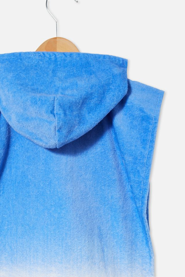 Baby Hooded Beach Towel, DUSK BLUE OMBRE