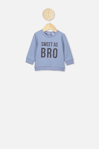 Bobbi Sweater, DUSTY BLUE/SWEET AS BRO